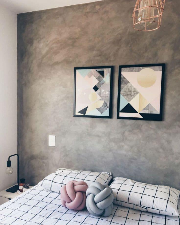 dekorativni zid u spavoćij sobi