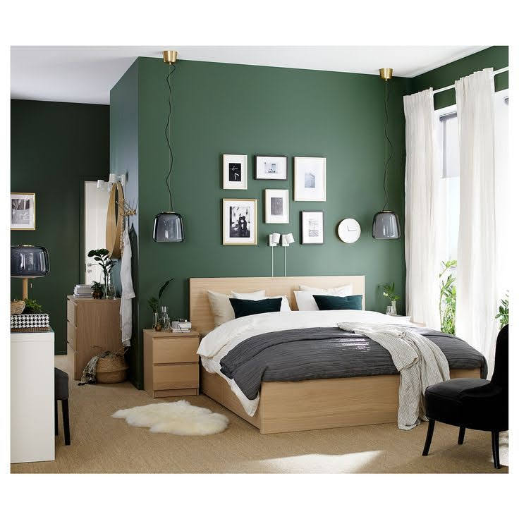 zelena boja u spavacoj sobi