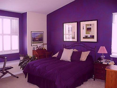 ljubicasta boja u vasem domu